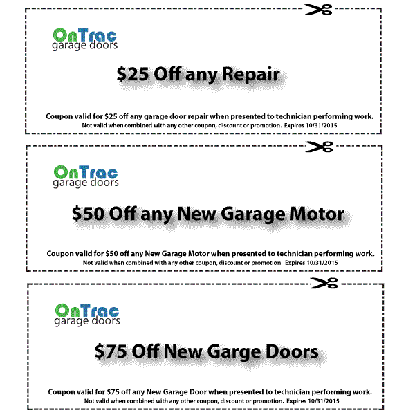 Burlington Garage Door Service Discount Coupons